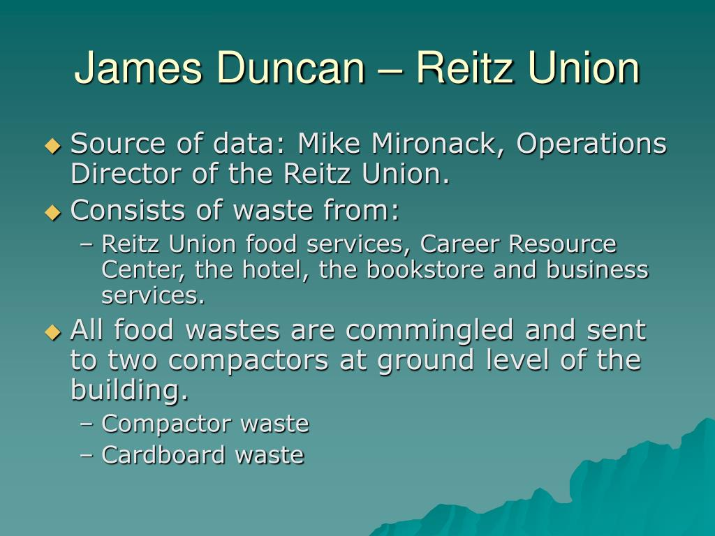 James Duncan – Reitz Union