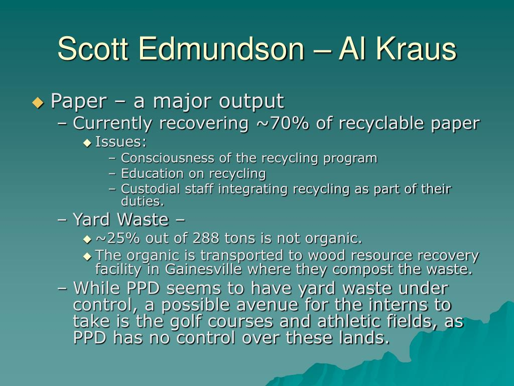 Scott Edmundson – Al Kraus