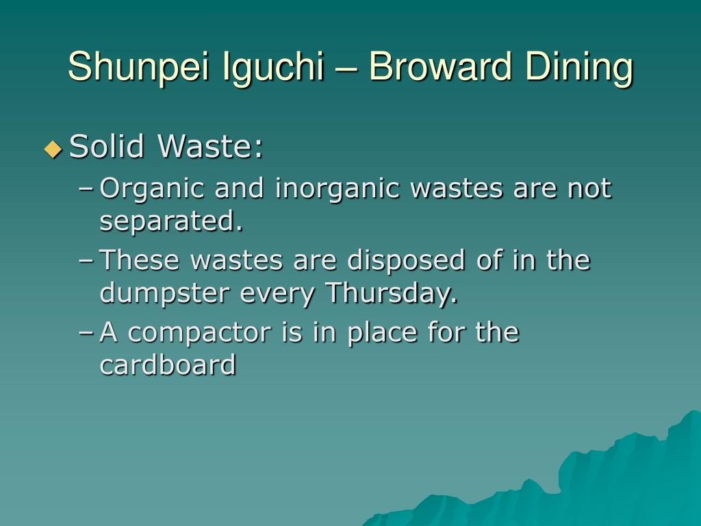 Shunpei Iguchi – Broward Dining