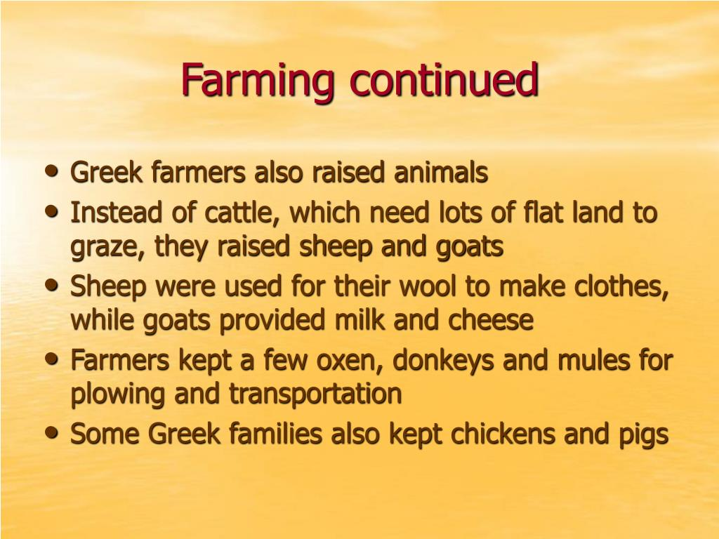 Farming continued