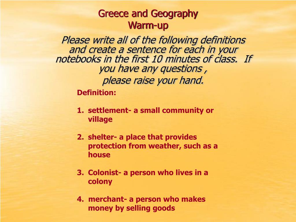 Greece and Geography