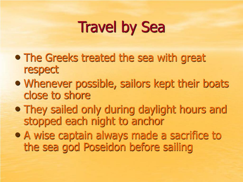 Travel by Sea