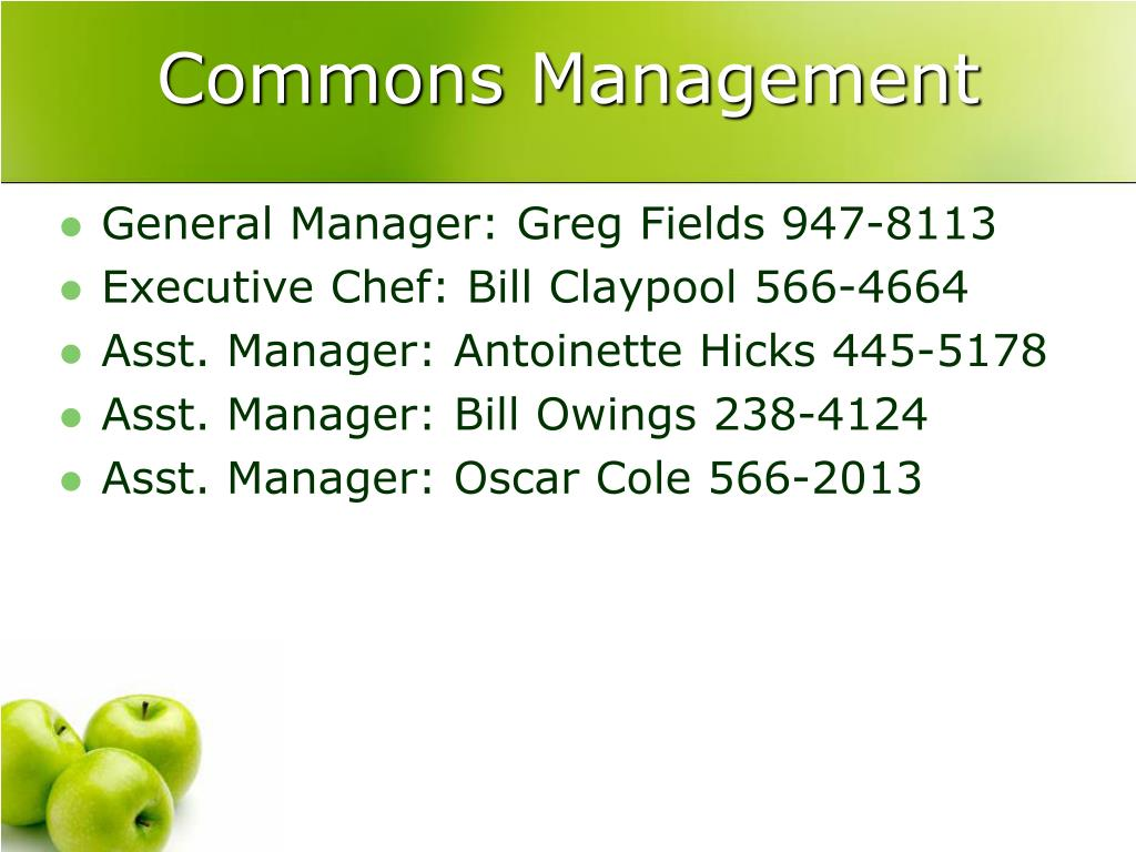 Commons Management