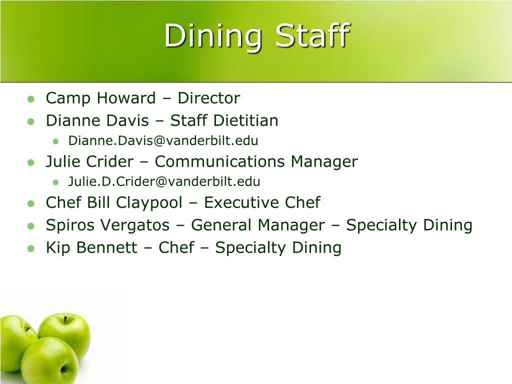 Dining Staff