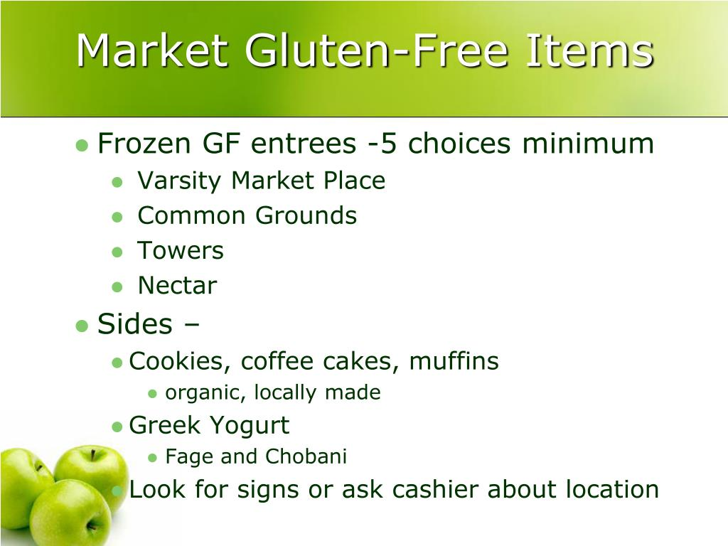 Market Gluten-Free Items