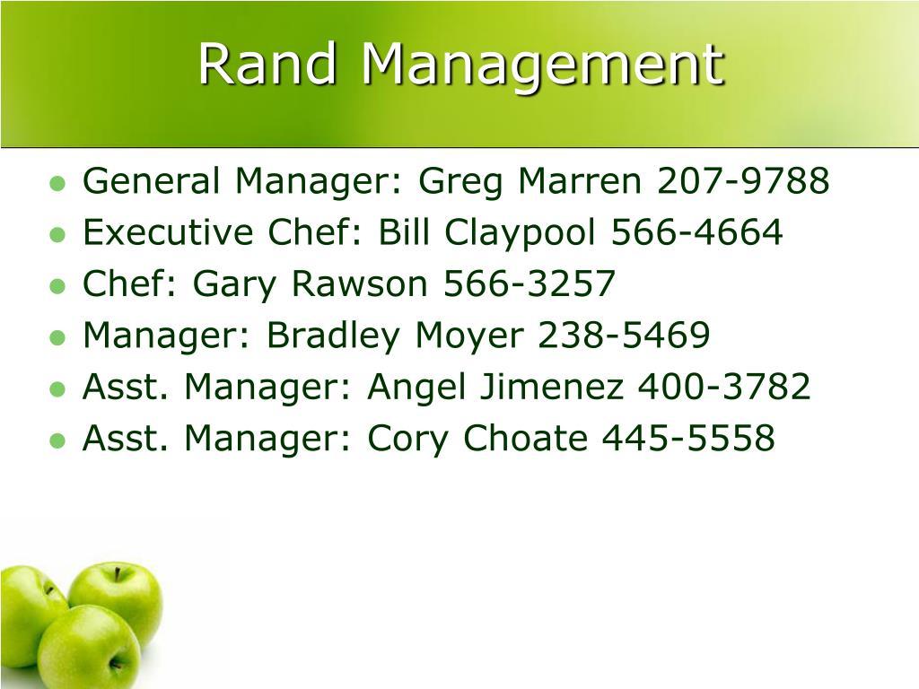Rand Management