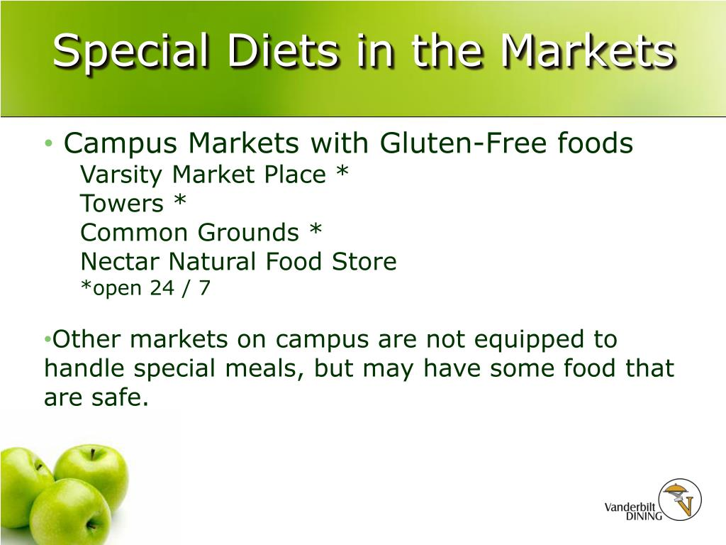 Special Diets in the Markets