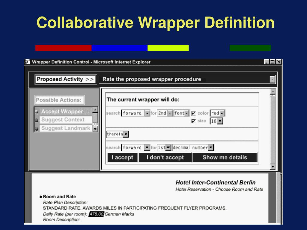 Collaborative Wrapper Definition