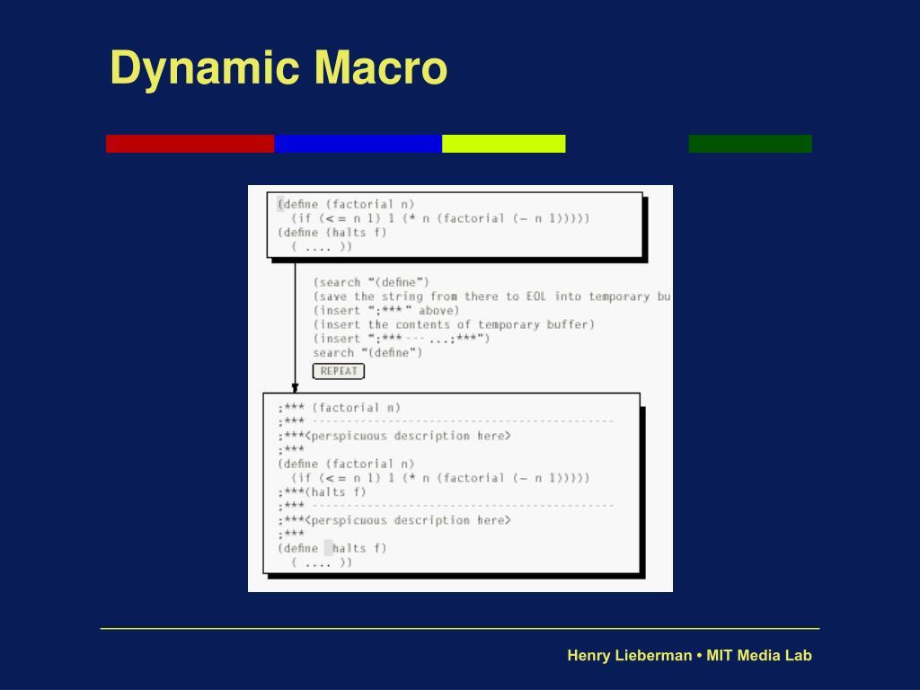 Dynamic Macro