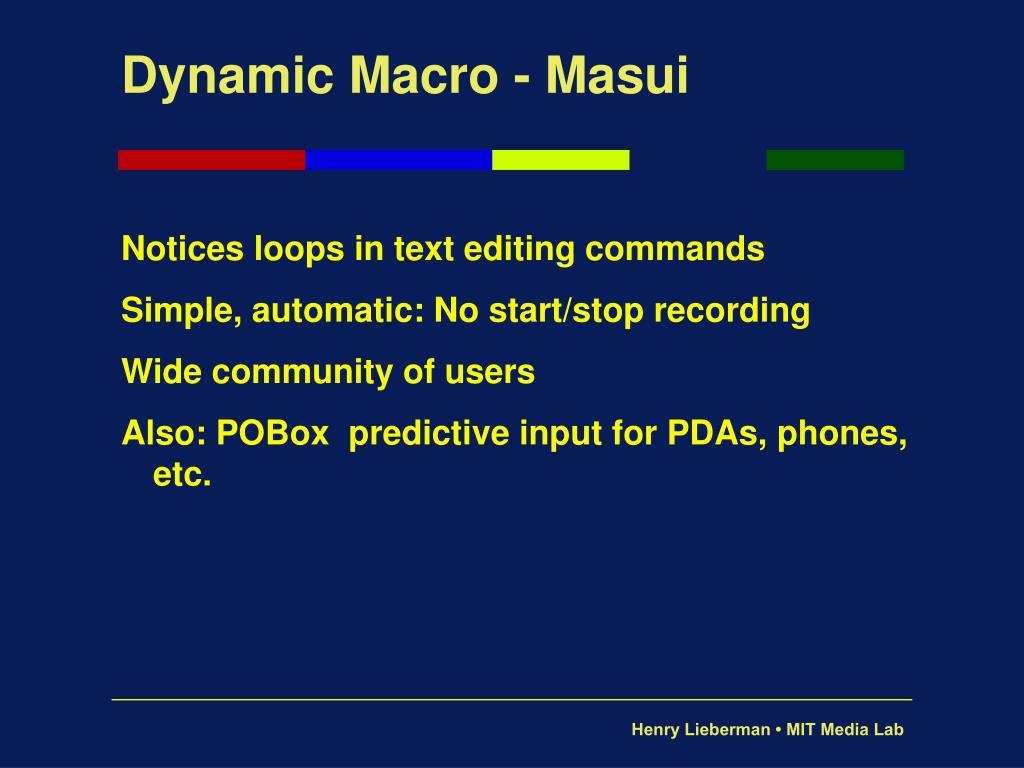 Dynamic Macro - Masui