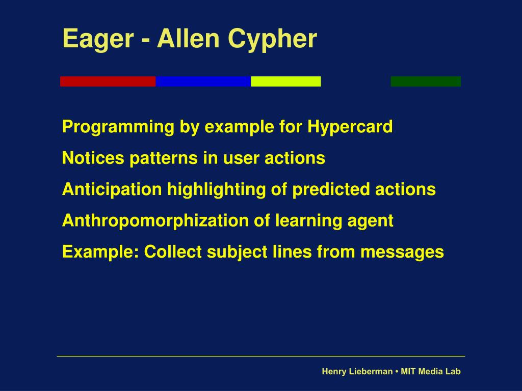 Eager - Allen Cypher