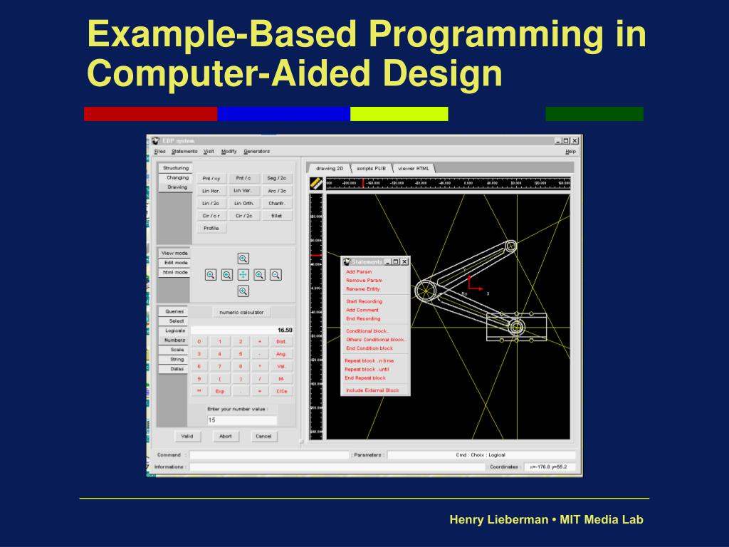 Example-Based Programming in Computer-Aided Design