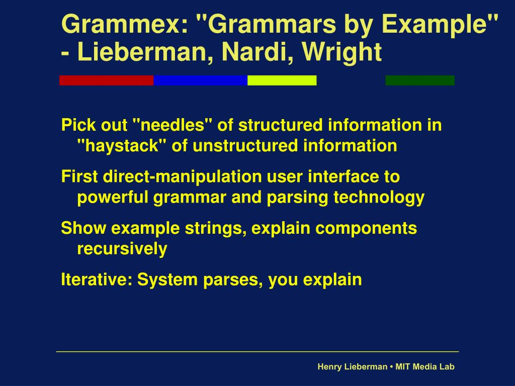 "Grammex: ""Grammars by Example"""
