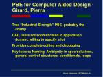 pbe for computer aided design girard pierra