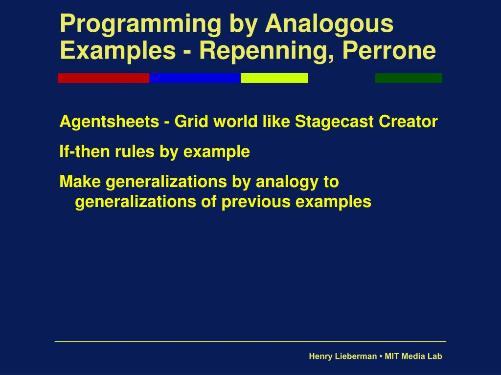Programming by Analogous Examples - Repenning, Perrone