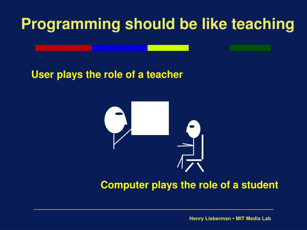 Programming should be like teaching