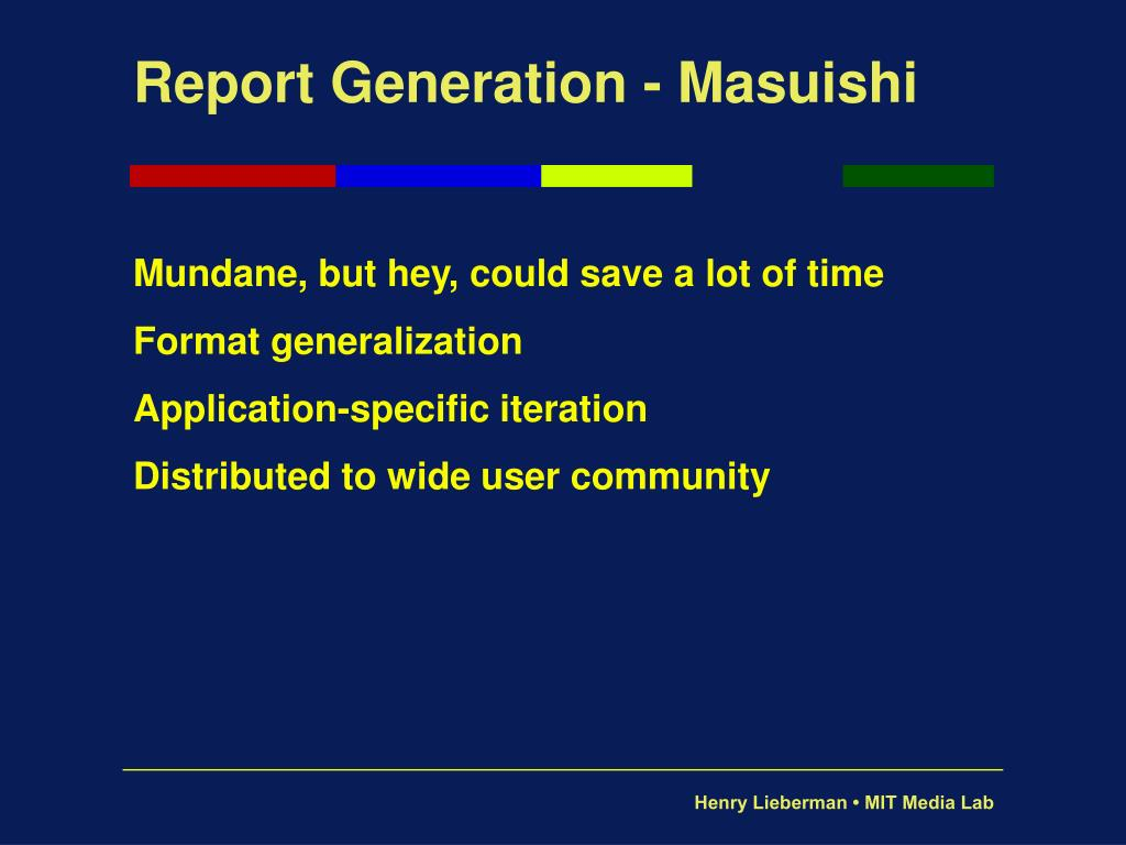 Report Generation - Masuishi