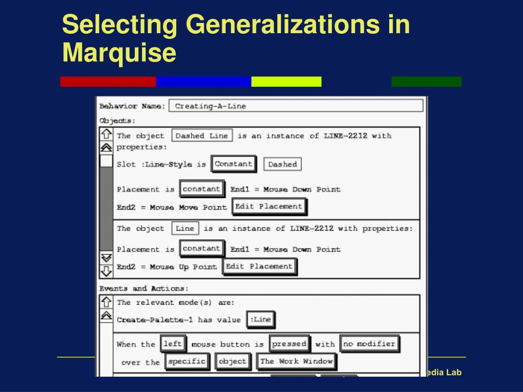 Selecting Generalizations in Marquise