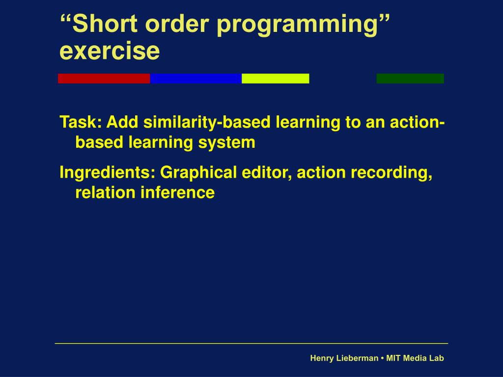 """Short order programming"" exercise"