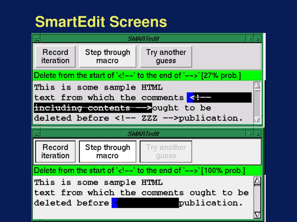 SmartEdit Screens