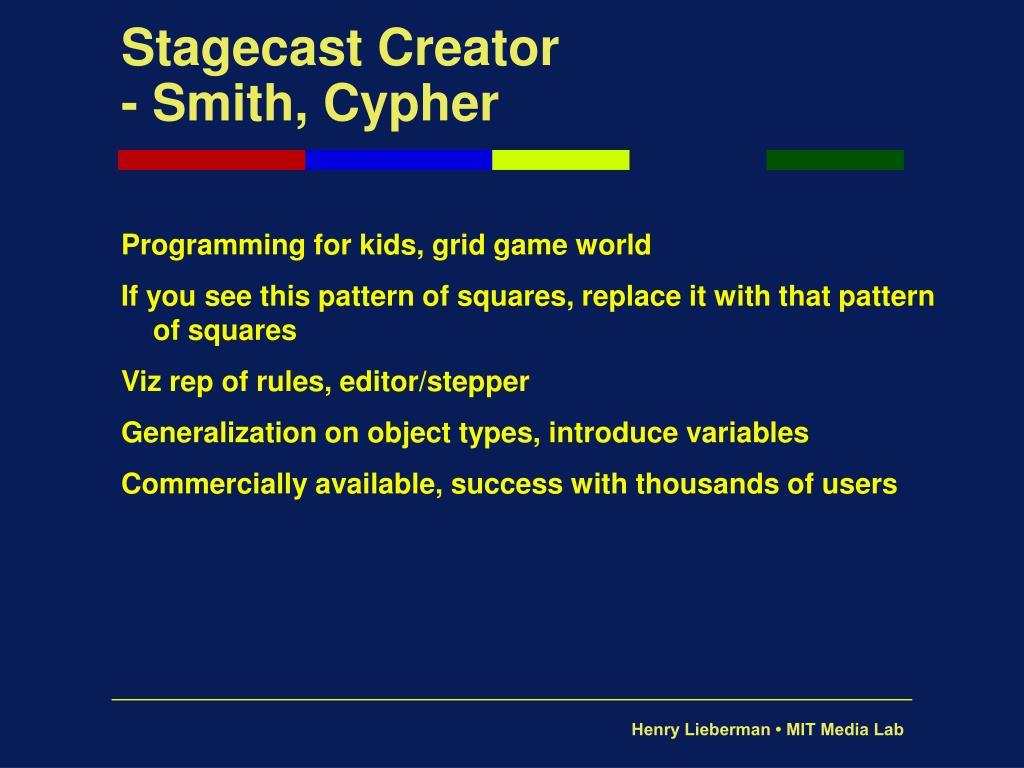 Stagecast Creator