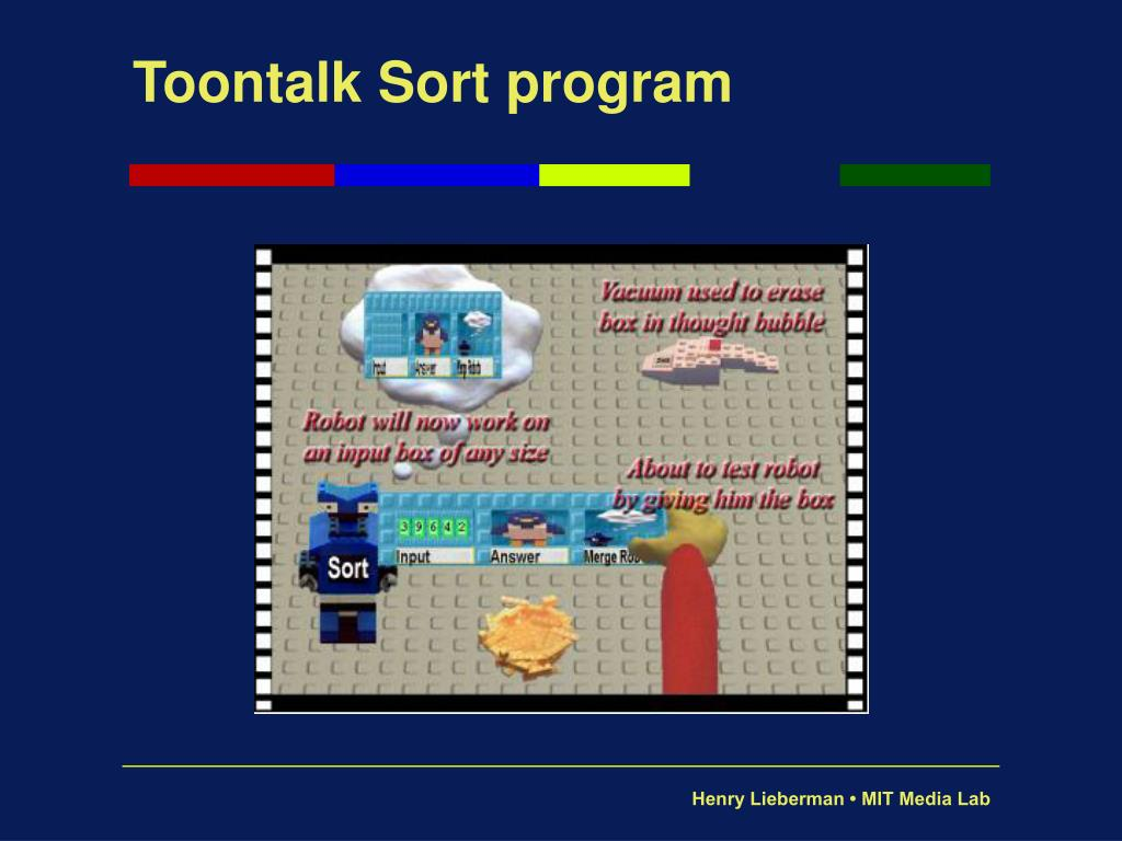 Toontalk Sort program