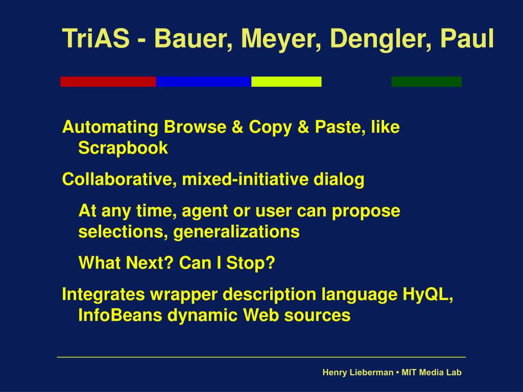 TriAS - Bauer, Meyer, Dengler, Paul