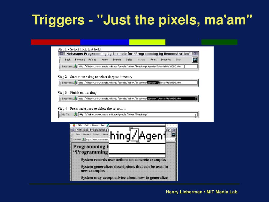 "Triggers - ""Just the pixels, ma'am"""