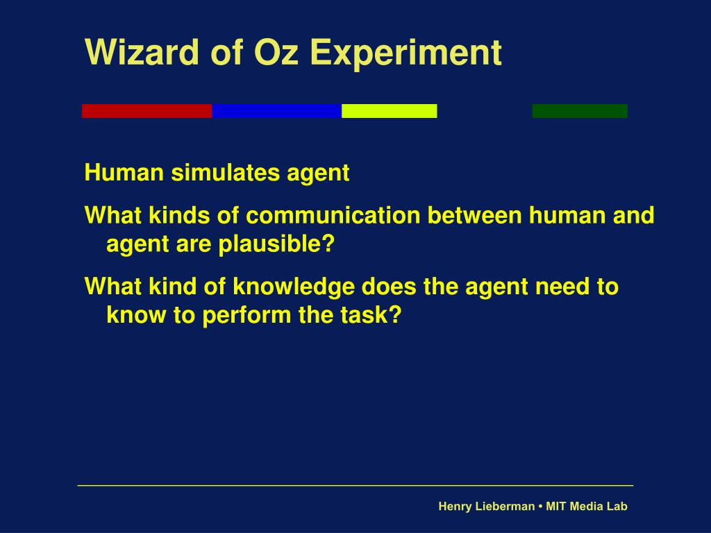 Wizard of Oz Experiment