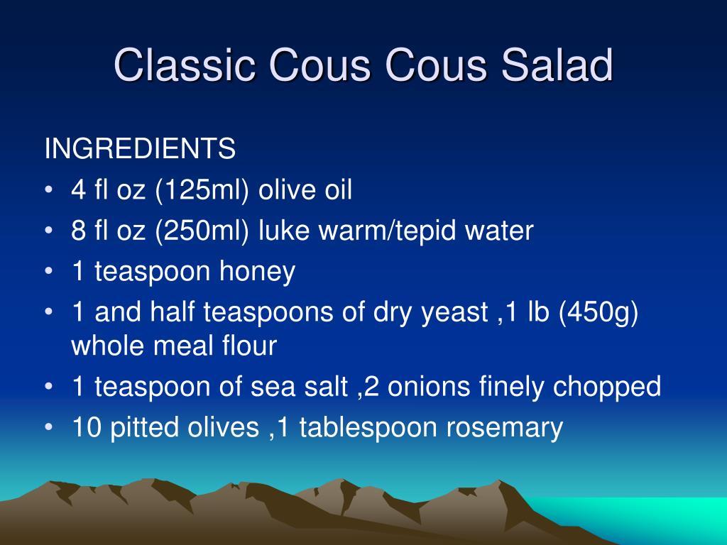 Classic Cous Cous Salad