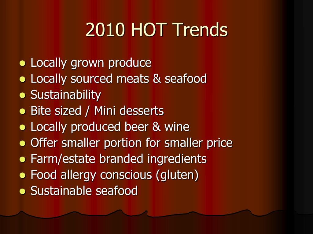 2010 HOT Trends