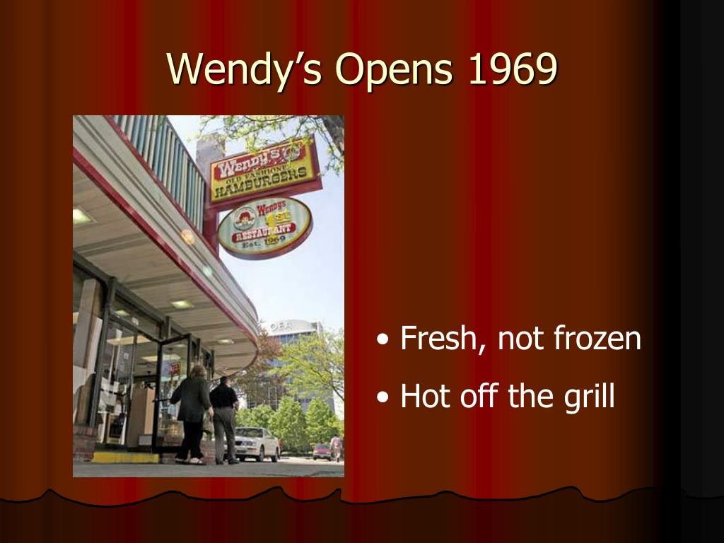 Wendy's Opens 1969