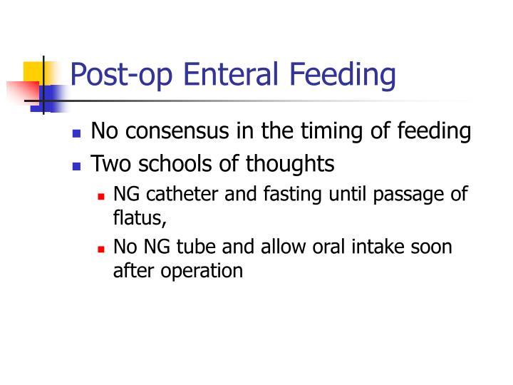 Post-op Enteral Feeding