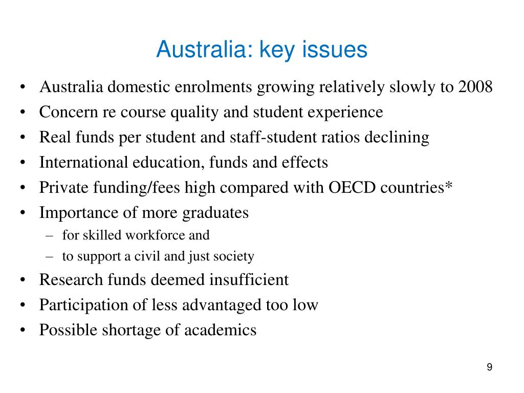 Australia: key issues