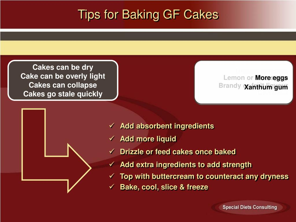 Tips for Baking GF Cakes