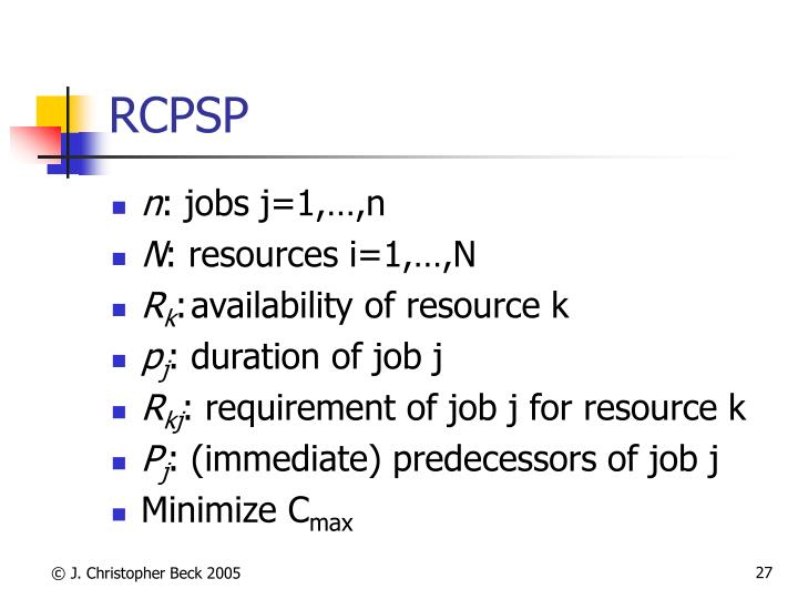 RCPSP