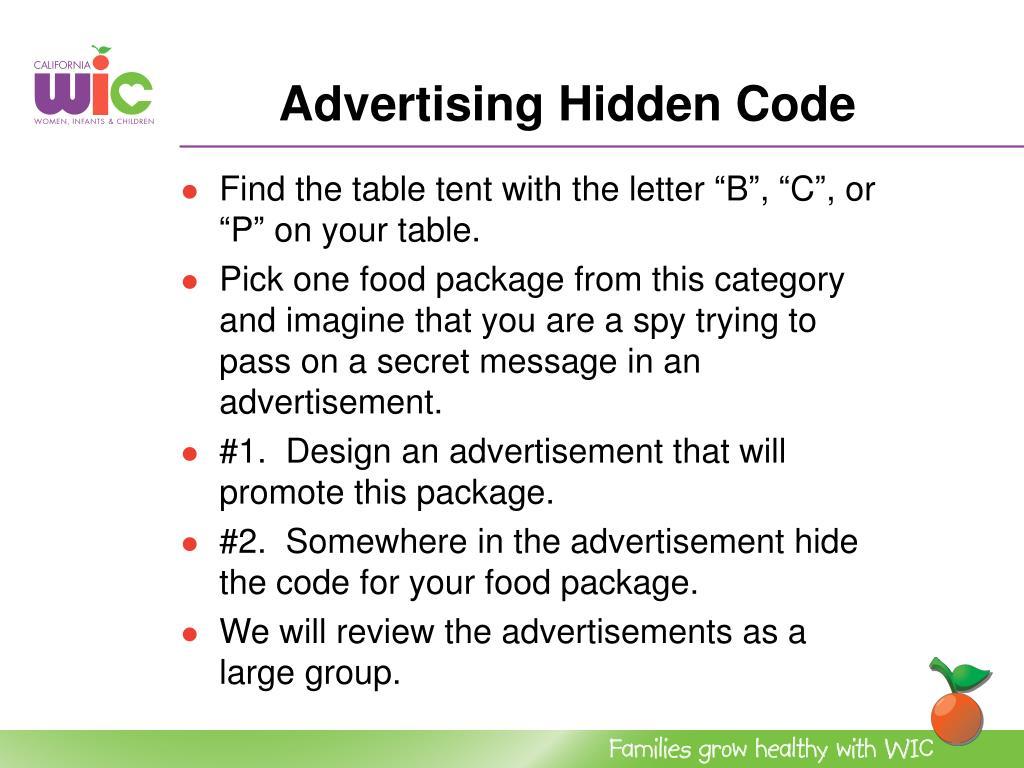 Advertising Hidden Code