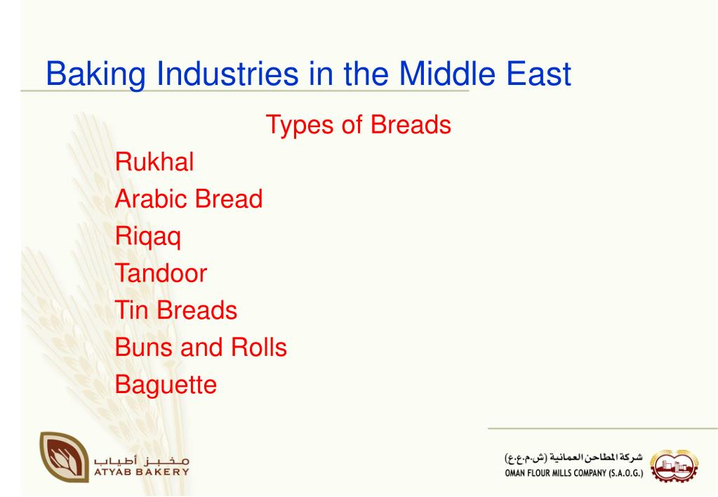 Baking Industries in the Middle East