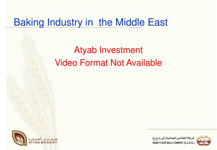 Baking industry in the middle east3