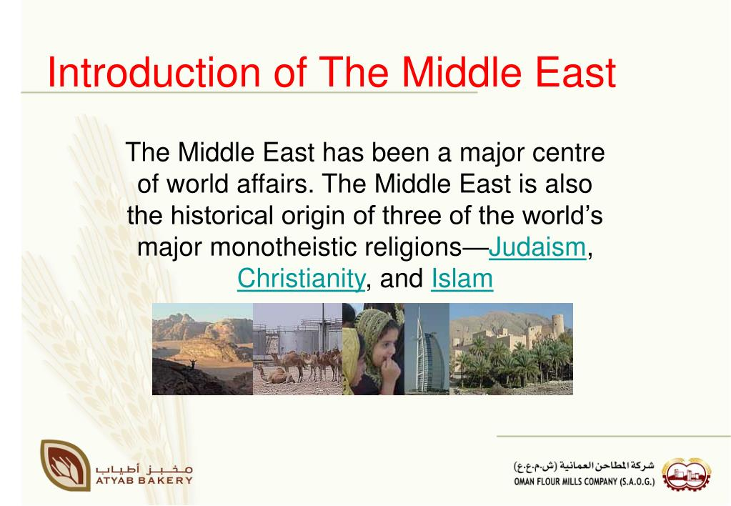 Introduction of The Middle East
