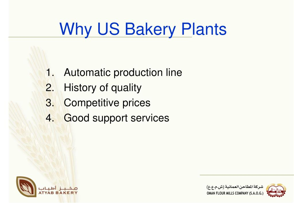 Why US Bakery Plants