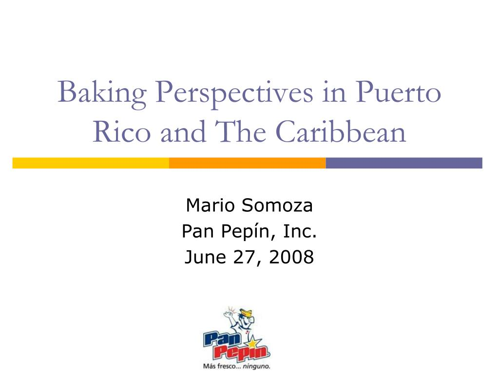 Baking Perspectives in Puerto Rico and The Caribbean