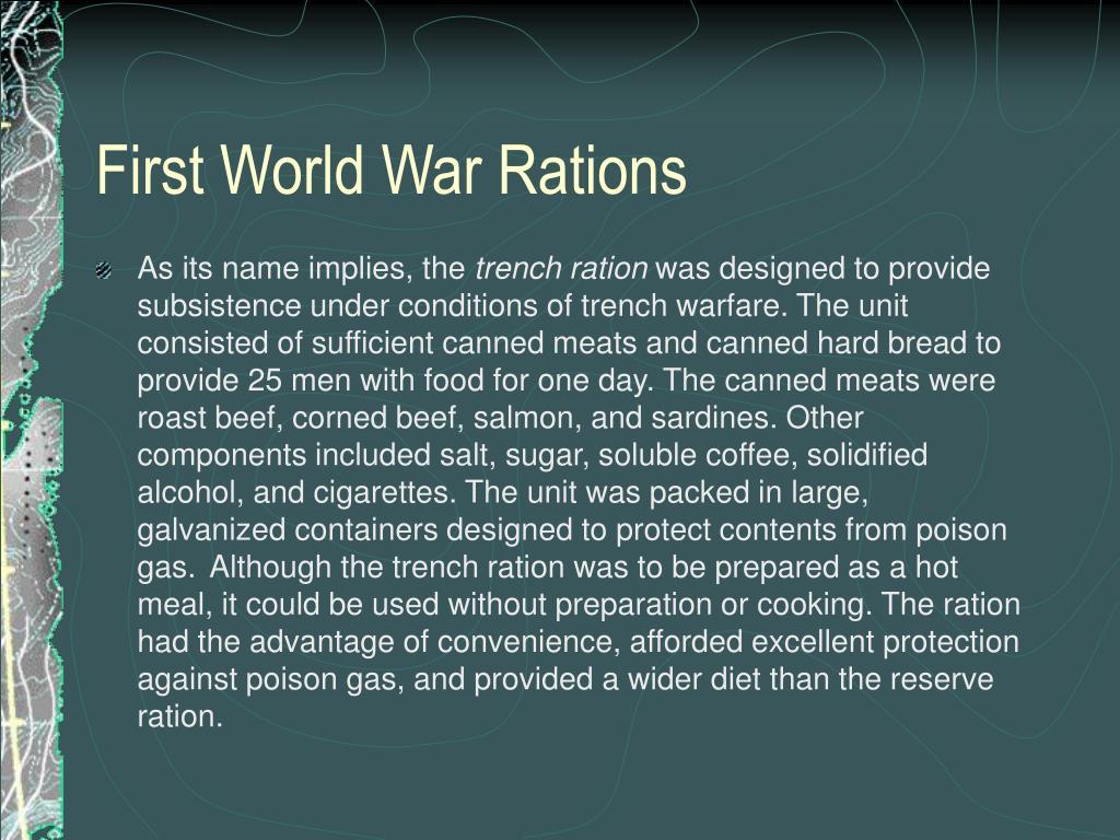First World War Rations