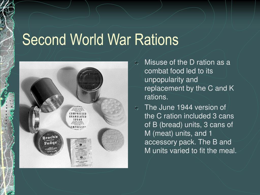Second World War Rations