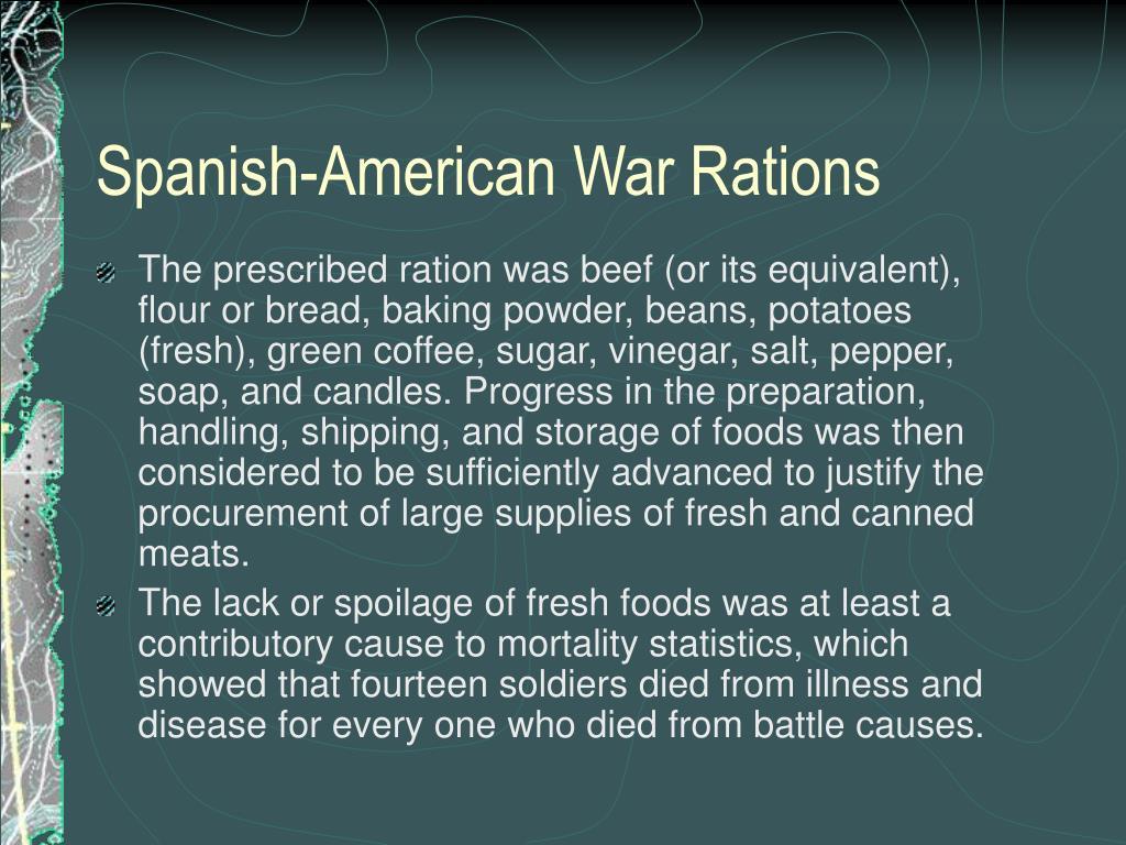Spanish-American War Rations