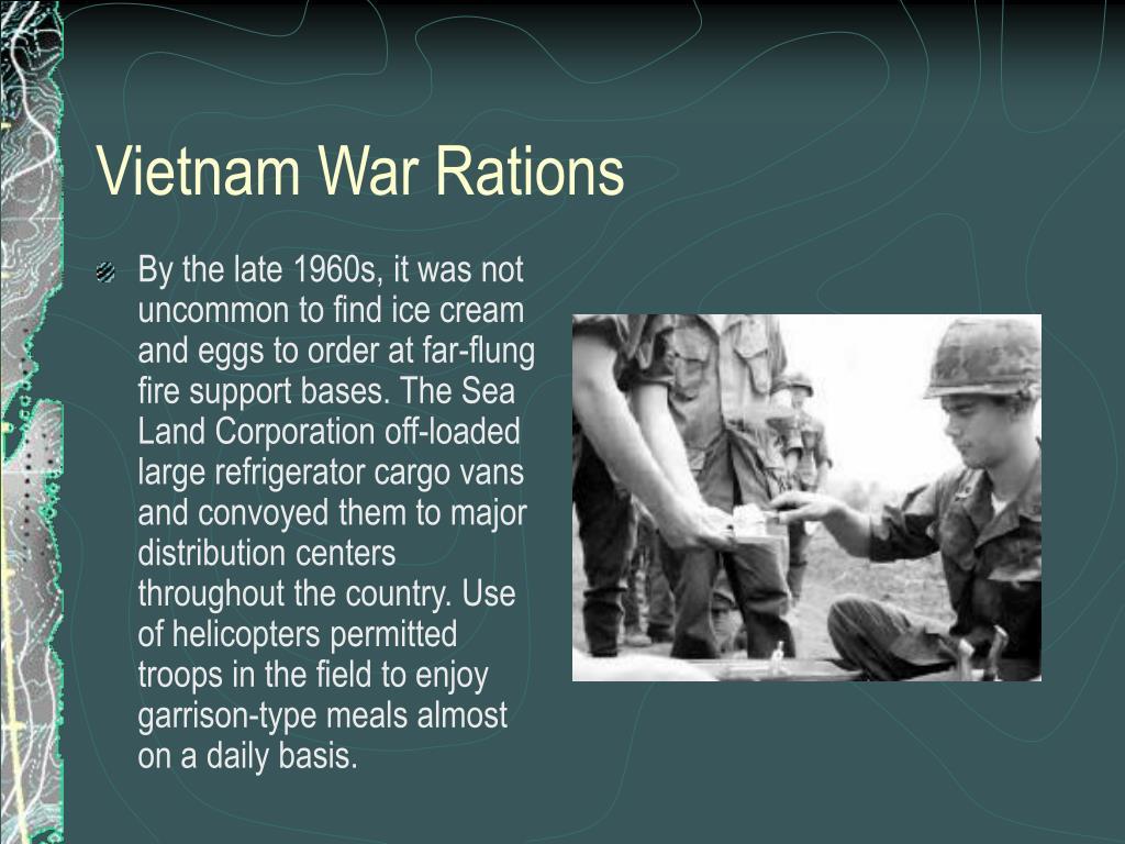 Vietnam War Rations