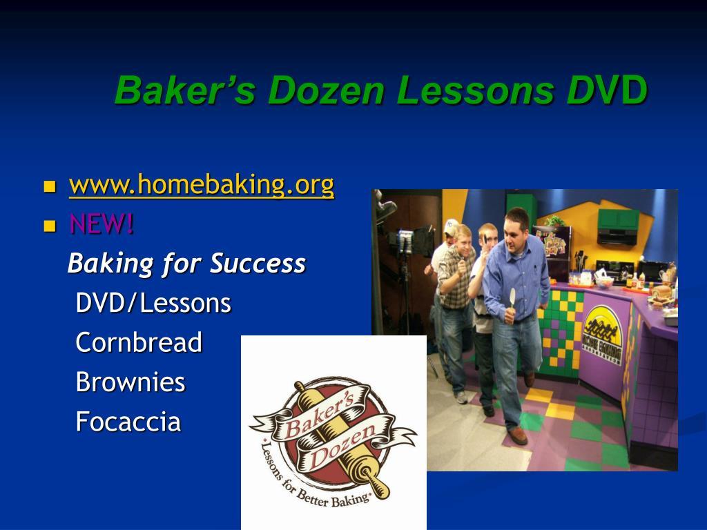 Baker's Dozen Lessons D