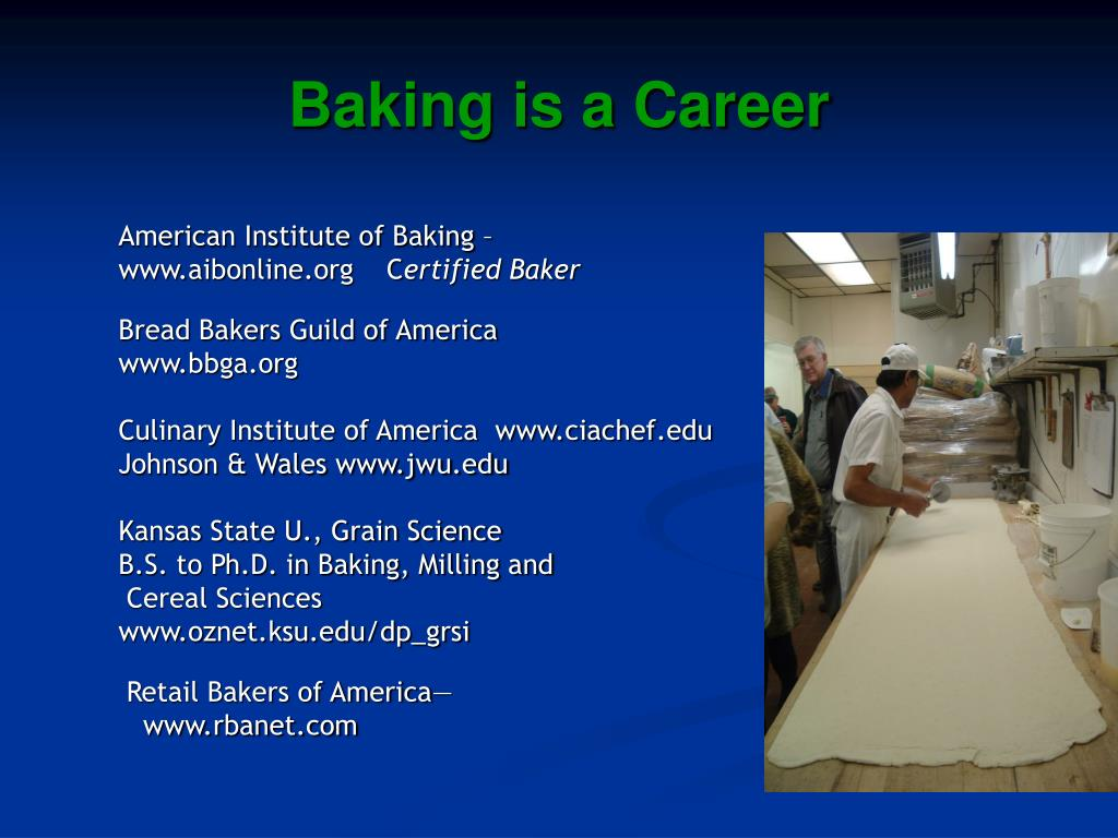 Baking is a Career