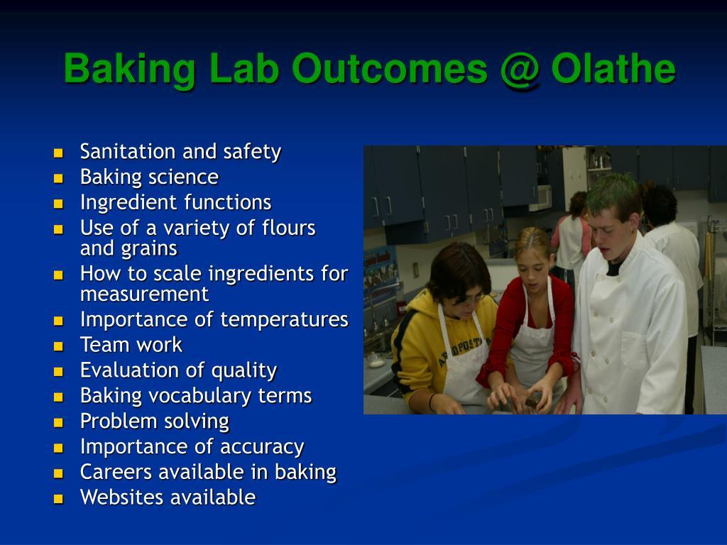 Baking Lab Outcomes @ Olathe