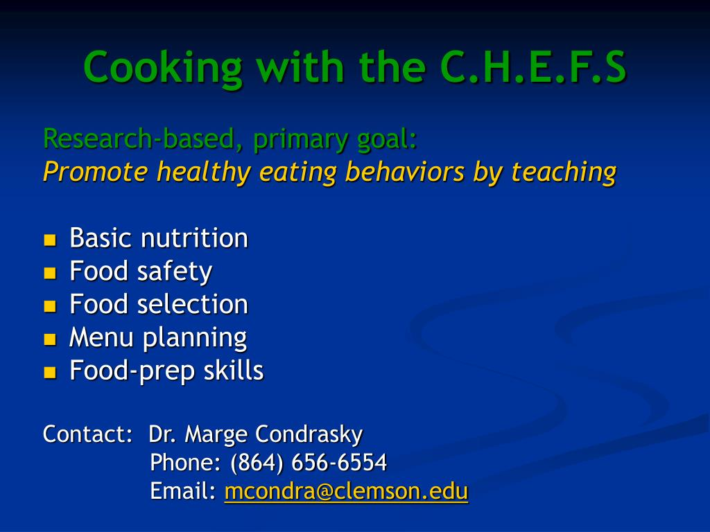 Cooking with the C.H.E.F.S